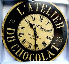 Horloge murale Atelier du chocolat