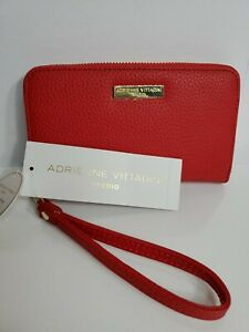 """Adrienne vittadini  woman small Wristlet  Red 4x7"""" New with tag!"""