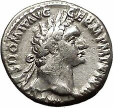 DOMITIAN son of Vespasian 93AD Silver Ancient Roman Coin Athena Minerva i57516