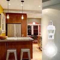 1* E27 Led Light Holder Pir Adapters Infrared Motion Sensor Lamp Bulb KCJ