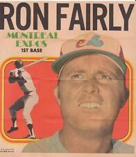 New listing RON FAIRLY 1970 Topps Baseball Mini Poster Insert Montreal Expos EX