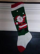 Christmas Stockings Handknitted & Personalized - Santa Juggling (Free Shipping)