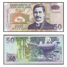 New Zealand Fifty Dollars $50 Paper Banknote UNC Last Prefix ZZ Donald Brash Sig