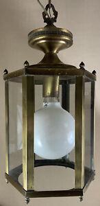 Vintage Mid Century Spanish Crusaders Circa 1960s Swag Lamp Fixture Pendent