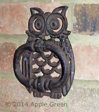 Cast Iron Wise Owl Avant Heurtoir Lourd Large Porte De Jardin Rétro Vintage Neuf