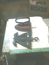 OLD VINTAGE IRONING FLAT IRON  w/ stand COLLECTABLE ANTIQUE