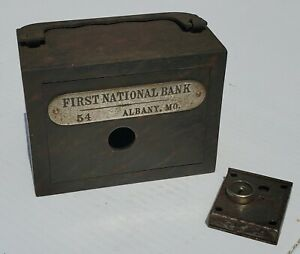 Old First National Bank Safety Deposit Box #54 Albany MO W F Burns Co Chicago