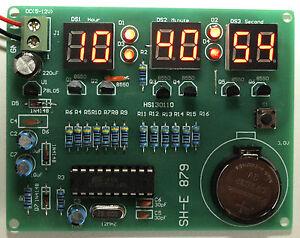 Electronic Clock Kit Microcontroller+PCB+Parts  English Instructions UK Seller