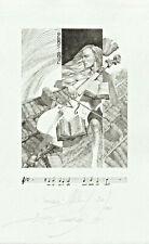 "Exlibris ex libris ""Music"" by CHINOVSKY PETER / Bulgaria"