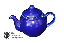 Vintage Dark Blue Teapot Locking Lid w/ Removable Infuser Strainer Screen Basket