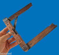 règle niveau équerre  signé TH le Schmitt brevet d'invention - outil ancien
