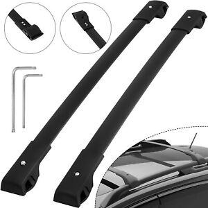 NEW For 2014-2019 Subaru Forester Roof Rack Cross Bar Black Aluminum - Pair