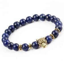 Bracelet chakra léopard jungle en Lapis Lazuli - Courage et force - Bijou totem