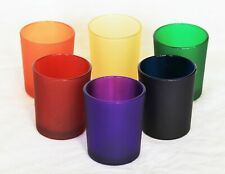 6 Rainbow Glass tealight candle holder mardi gras gay party wedding table decor
