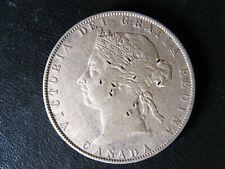 50 cents 1898 Canada Queen Victoria silver coin c ¢ half dollar F-15 Marks