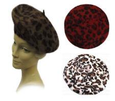 Leopard Beret Hats for Women