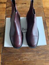 LK Bennett Oxblood Calf Leather Lotte Chelsea Boots UK 8 41 BNWB