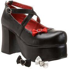 demonia by pleaser women's Abbey-03 black pump size 12