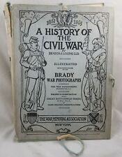 Antique History of the Civil War Benson Lossing 16 Sections US War Memorial 1912