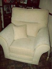 Maida Vale Collection Floral Stone Upholstery Reverse Cushion Armchair RRP £750