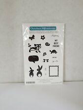 October Afternoon Woodland Park Rubber 17-Stamp Set St-390 AnimalsFlowers-Spring