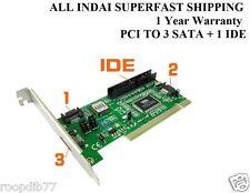 PCI to 3 SATA + 1 IDE CARD COMBO SATA & IDE PORT CONVERTER CARD , BRAND NEW