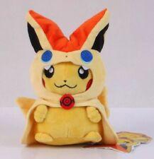 """Pokémon Pikachu With Victini Hood Plush Stuffed Animal Toy 8"""" US Seller"""