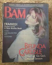 BAM MUSIC MAGAZINE - BELINDA CARLISE GO GO's BEATLES TEXTONES  Nov 20 1987 #271