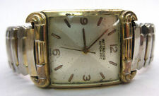 UNISEX VINTAGE WITTNAUER GOLD FILLED WATCH W/ STAINLESS STEEL BAND - PARTS **