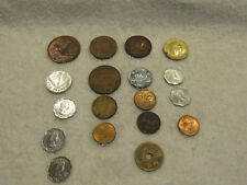 FOREIGN COIN MIXED LOT YEN FRANC LIRE PENCE MORE L@@K!! MIXED DATES