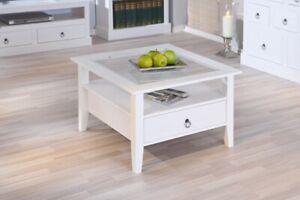 Couchtisch Stubentisch Tisch Provence1 Kiefer Massiv Weiß