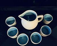 Pigeon Forge Pottery - Dogwood Set - Pitcher, (6) Coffee Tea Cups - Juice set