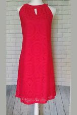 New TACERA   Pink Lace Sleeveless Dress~Fully Lined~Size Large