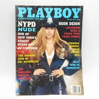 PLAYBOY Magazine NYPD Nude Neon Deion - August 1994 - Centerfold Intact