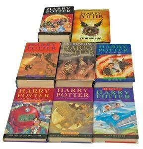 Harry Potter Hardback Book Set Bundle Some First Editions 1-7 Cursed Child
