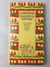 Lansdownes Traditional Knitting Illustrated Pocket Guide HC 1983 Self Help