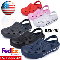 Mens Slip On Garden Mules Clogs Shoes Sports Sandals Beach Swim Slippers Shoes
