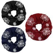 Loopschal Halstuch Pusteblumen Löwenzahn dunkelblau rot schwarz