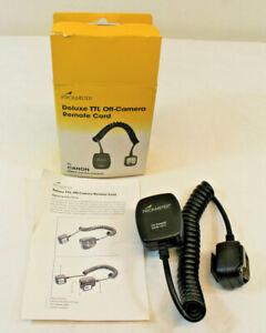 Promaster Deluxe TTL Off-Camera Remote Cord -Canon Digital and film cameras 4211