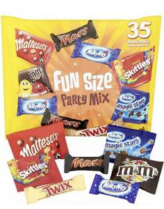 Mars, Maltesers, M&M's and More Fun Size Chocolate Bars, 650g, 35 bars