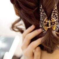 3Sizes Womens Girls Leopard Hair Clip Claw Hair Accessory E5Q3