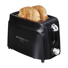 Slice Toaster Black Kitchen Appliance Extra Wide Slots Bagel Warmer Toast Maker