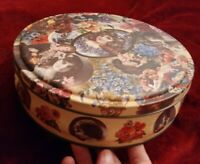 Vintage Cameo Metal Tin Collectible Box Made In England HBS 214/2884