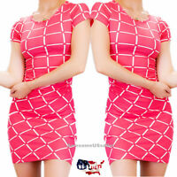 Women Dresses Bodycon Bandage Tops Dress Short Sleeve Cocktail Casual Club Party