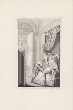 Stampa erotica antica, sesso, bulino, 1850