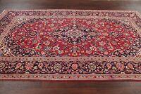 Vintage Traditional Floral Kashaan Area Rug Hand-made Bedroom Carpet Wool 6x10