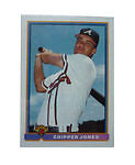 1991 Bowman Chipper Jones Atlanta Braves #569 Baseball Card