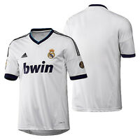 adidas Real Madrid 2012 - 2013 Home Soccer Jersey Brand New White / Navy