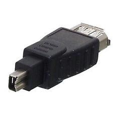 Firewire Adapter 4pol. Stecker zu 6pol. Buchse Mini DV 6pol. zu Mini DV 4pol.