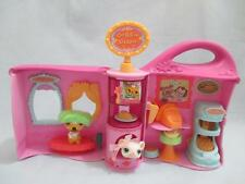 LITTLEST PET SHOP PINK DOGGIE DINER PLAYSET Take Out House w/ accessories LOT